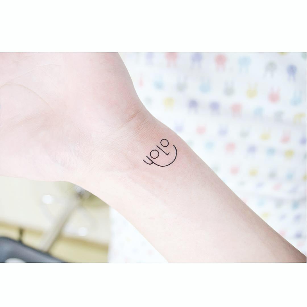 smal YOLO tattoo