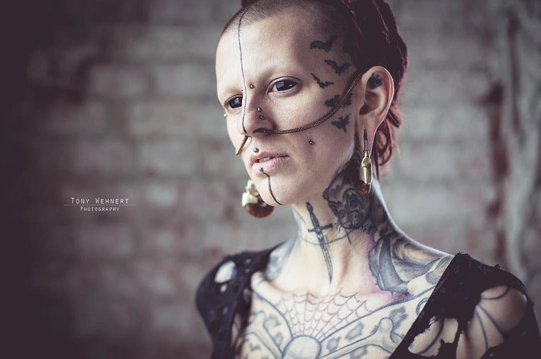 Bats Face Tattoos by laurettv