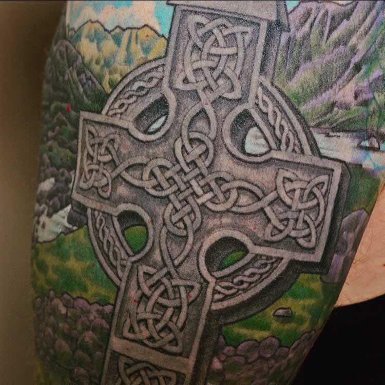 Celtic Tattoo Cross by Scottie DeVille