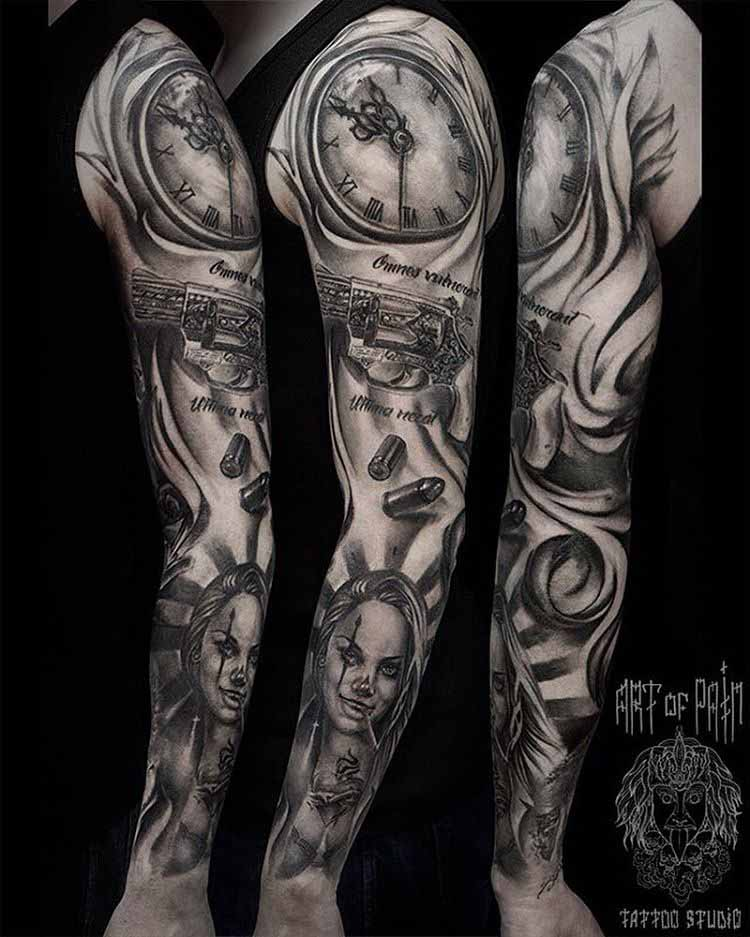 mexican tattoo sleeve chicano