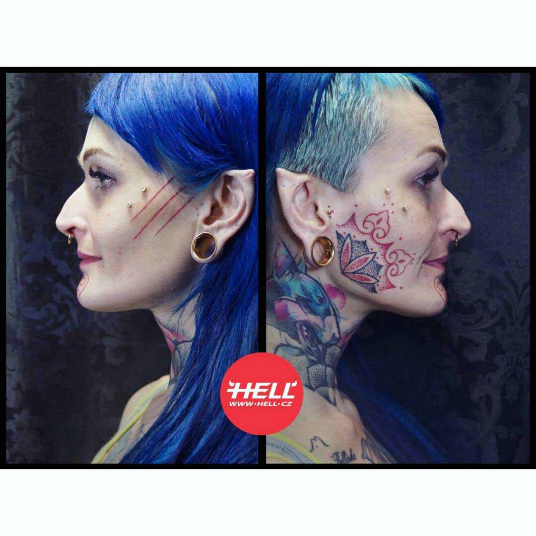 Girl Face Tattoos by Kubo