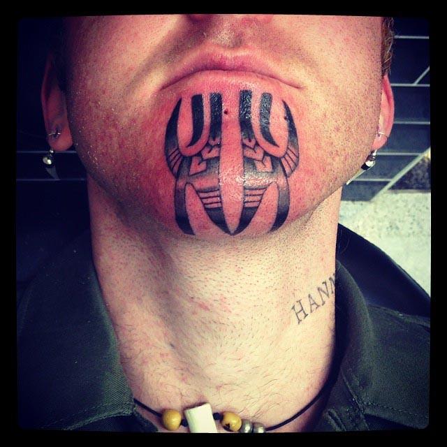 Maori Chin Tattoos by tara_truth