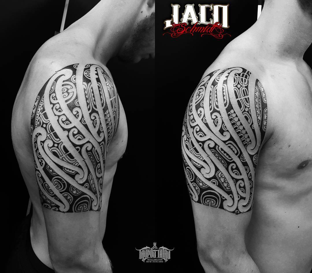 Maori Shoulder Tattoo Designs by Jahco23