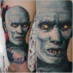 Mr Barlow Portrait tattoo
