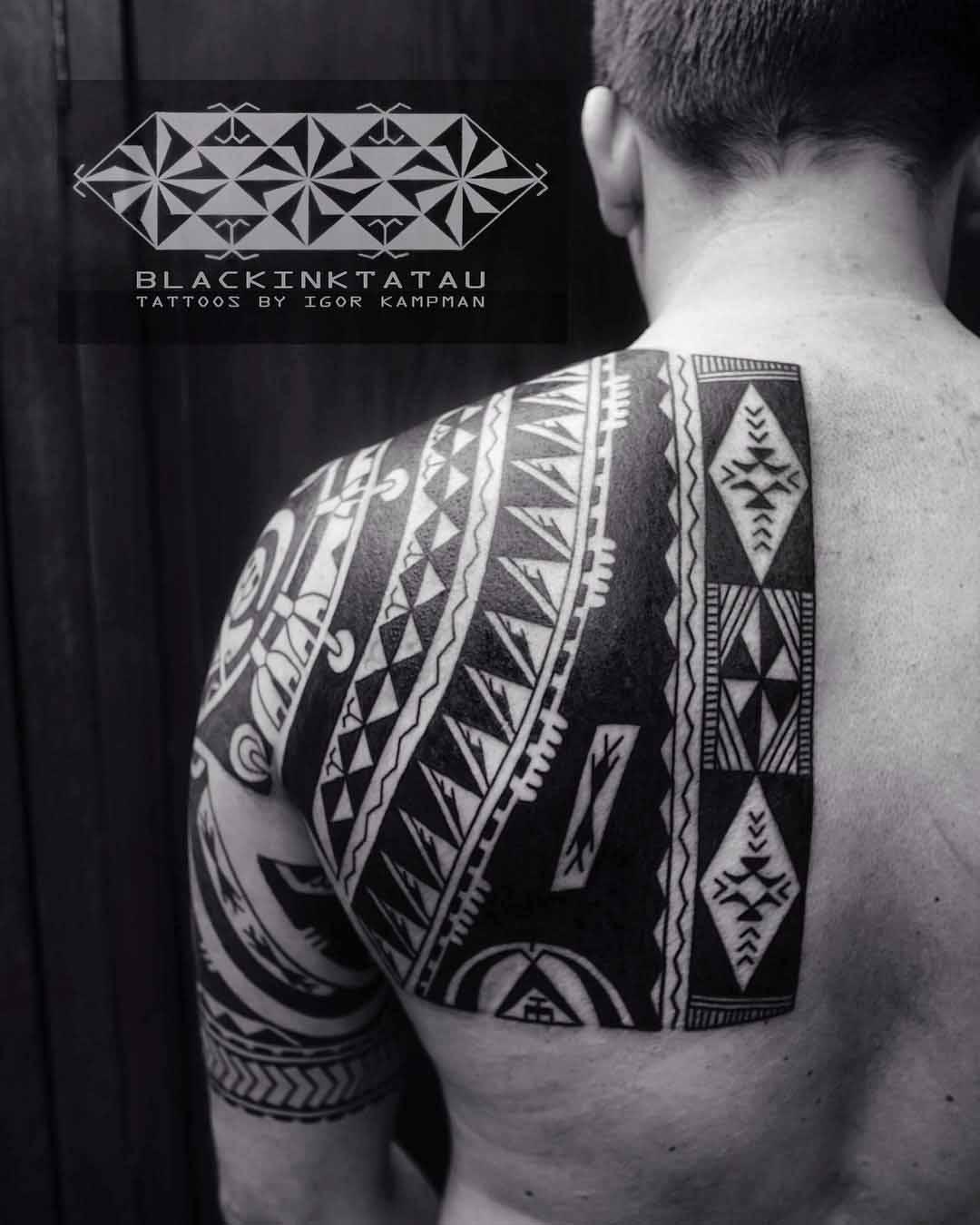 Shoulder Blade Maori Tattoo by Igor Kampman