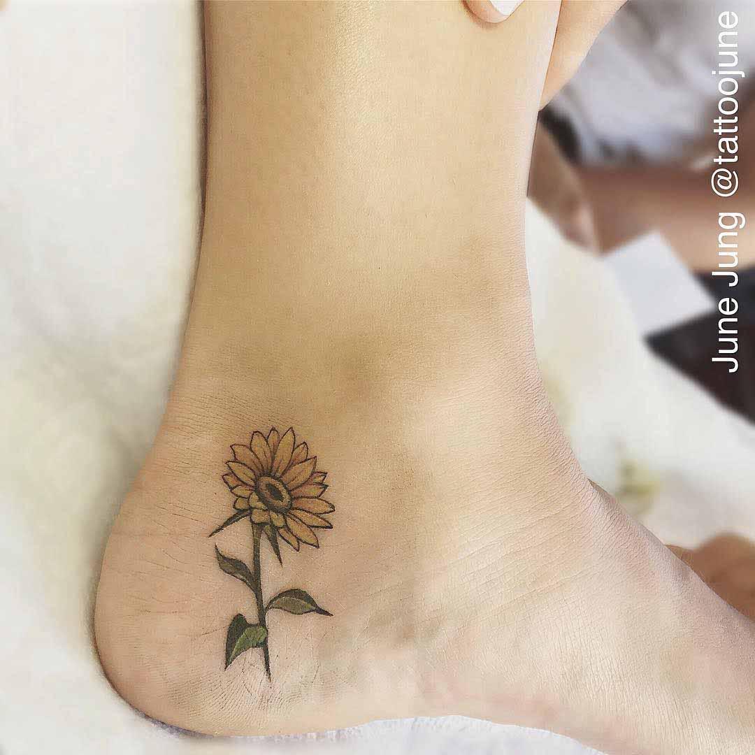 heel tattoo flower