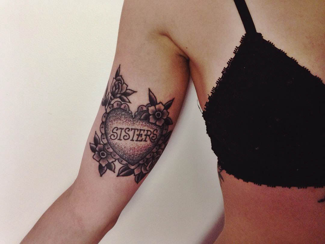 Sisters Heart Tattoo by Andrew McDonald