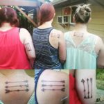 Three Arrows Tattoos for Sisters