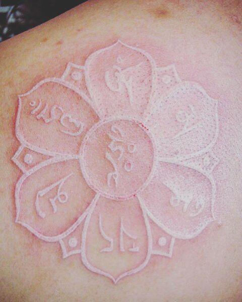 White Lotus Flower Tattoo by Anuar Azamar Ruiz