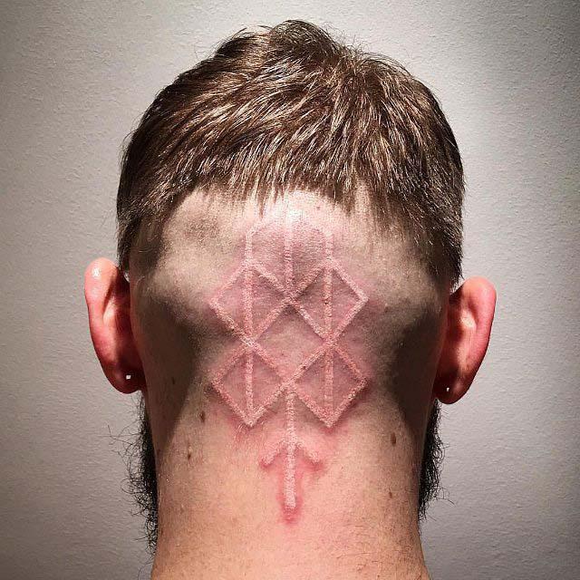 White Nape Tattoo by Bard Tjelta