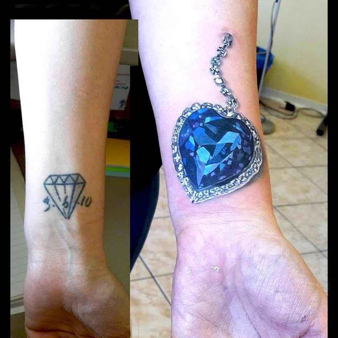 diamond tattoo cover up