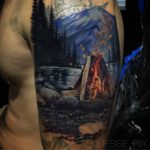 Campfire Tattoo Cover-Up