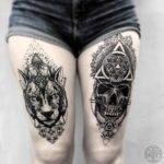 Dark Thigh Tattoos