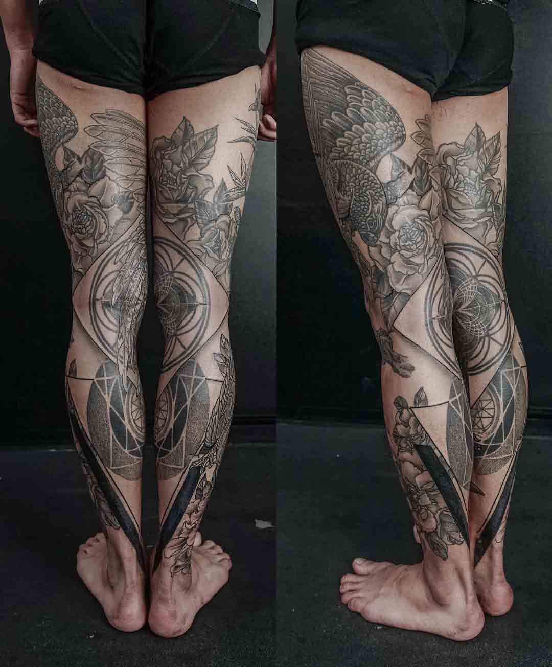 legs tattoos full sleeves