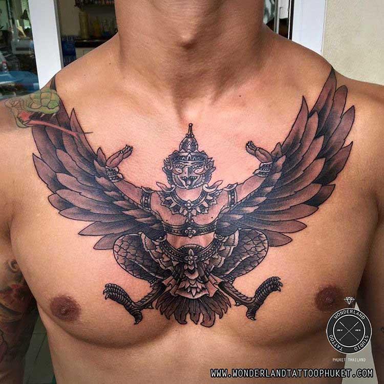 Chest tattoo Garuda
