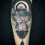 Egypt Cat Tattoo Sphynx