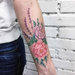 Flowers on Arm Tattoo