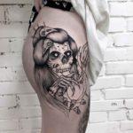 Girl Skull Tattoo
