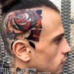 Head Side Rose Tattoo
