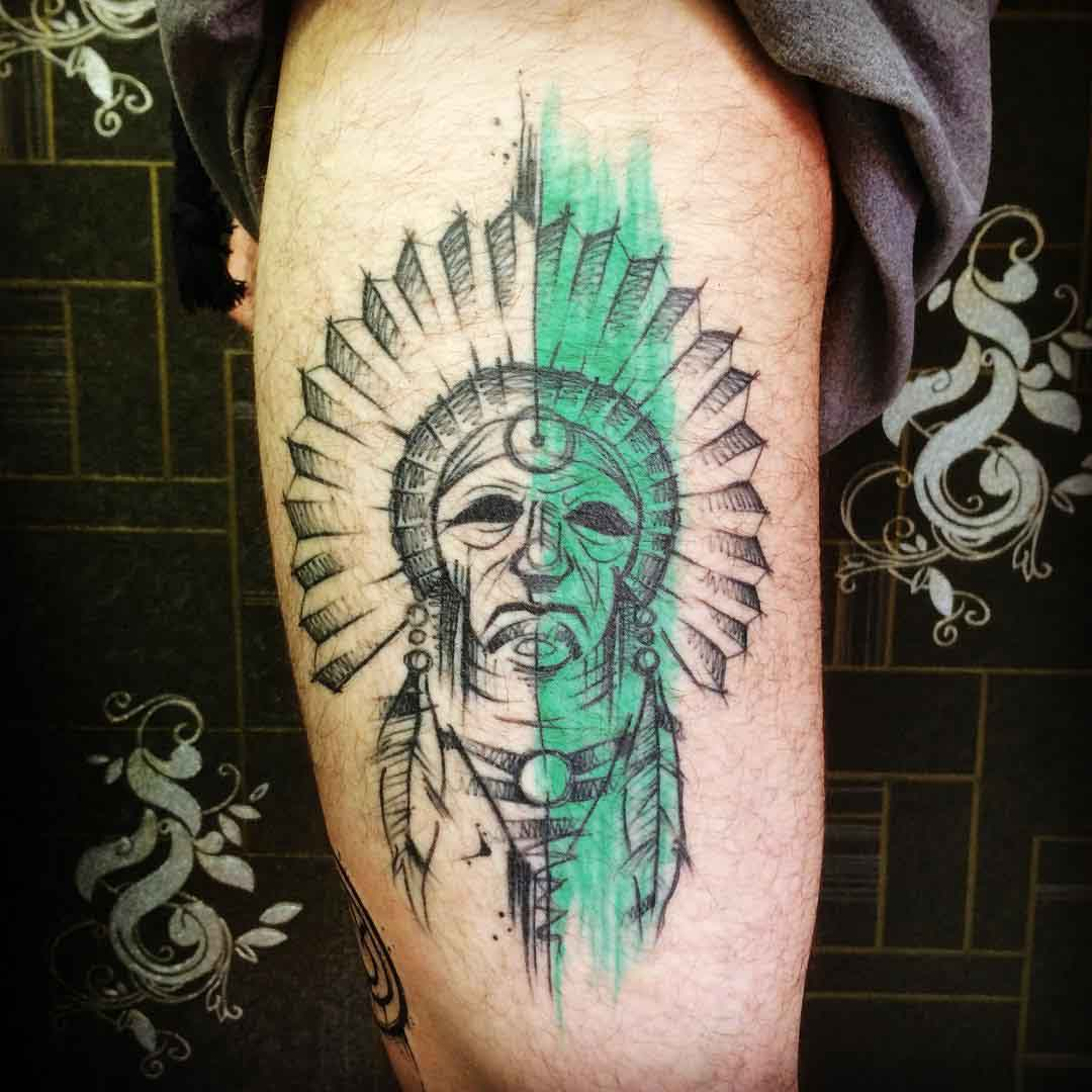 sketchy indian tattoo