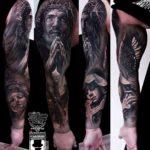 Jesus Sleeve Tattoo