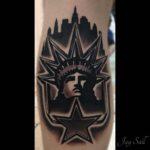 Statue of Liberty Tattoo on Calf