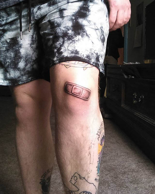 knee tattoo patch