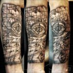 Old Map Tattoo