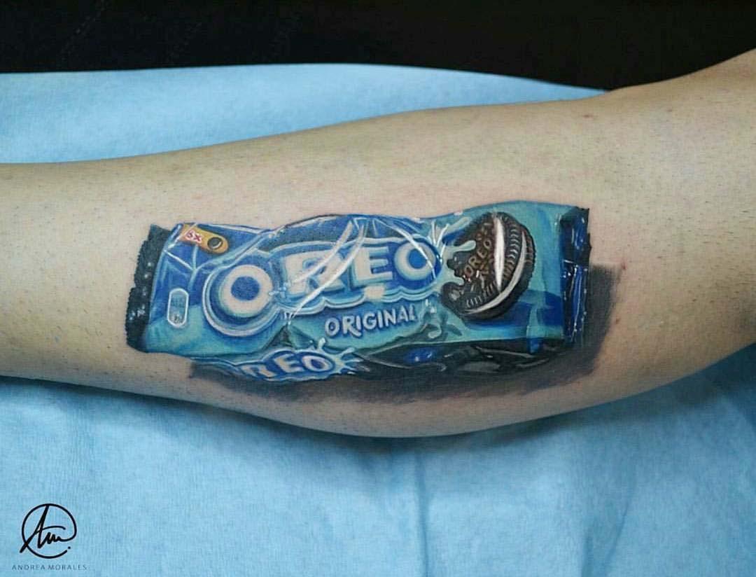 3D tattoo Oreo