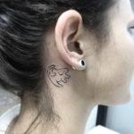 Simba Tattoo Behind Ear