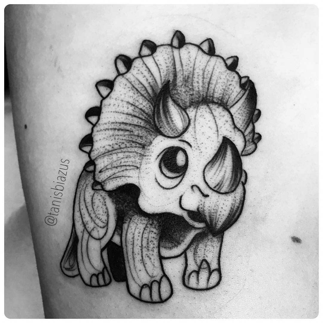 triceratops tattoo cub