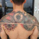 Upper Back Tattoo Geometric