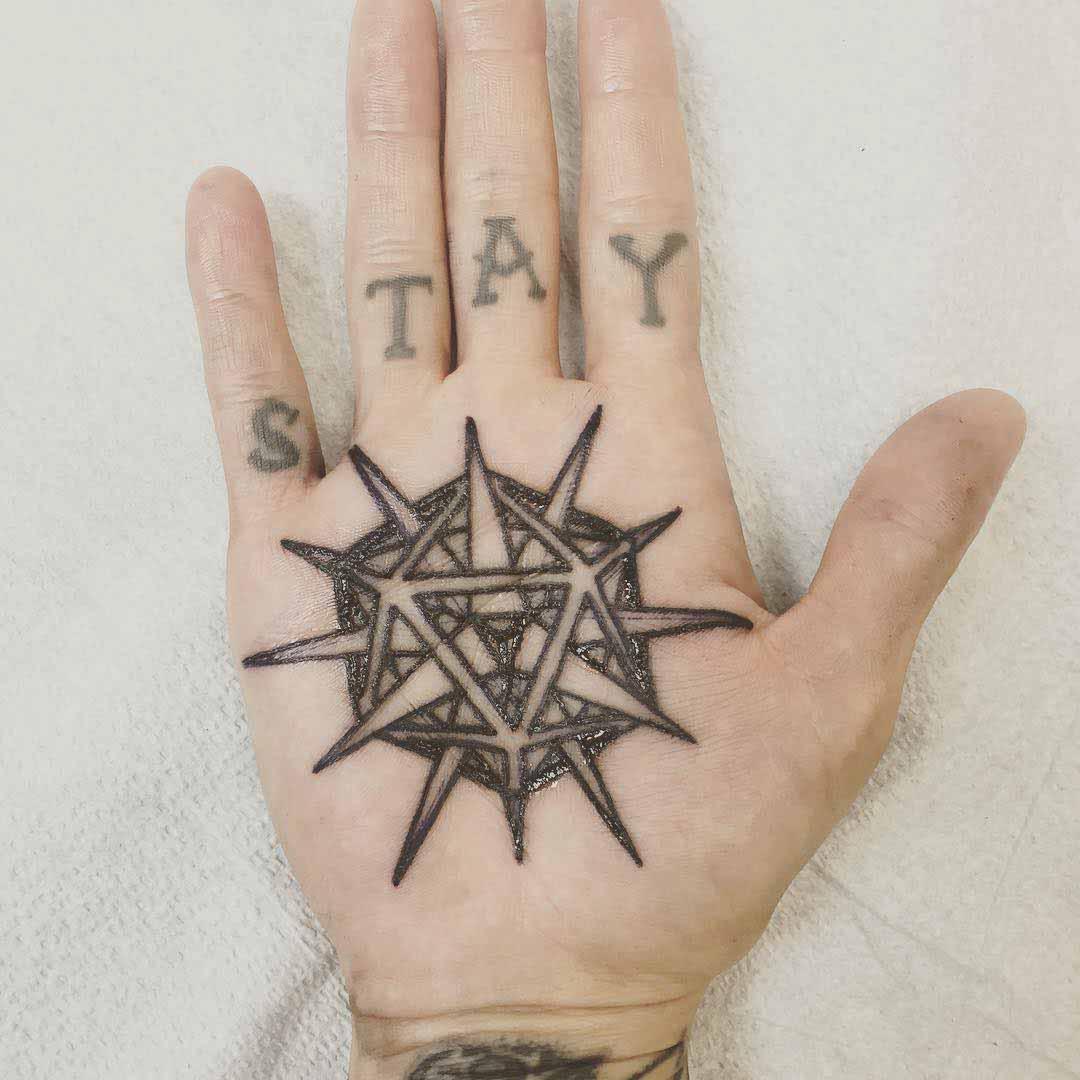 Geometric Palm Tattoo by Dan Bones