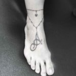Ankle Tattoo Necklace