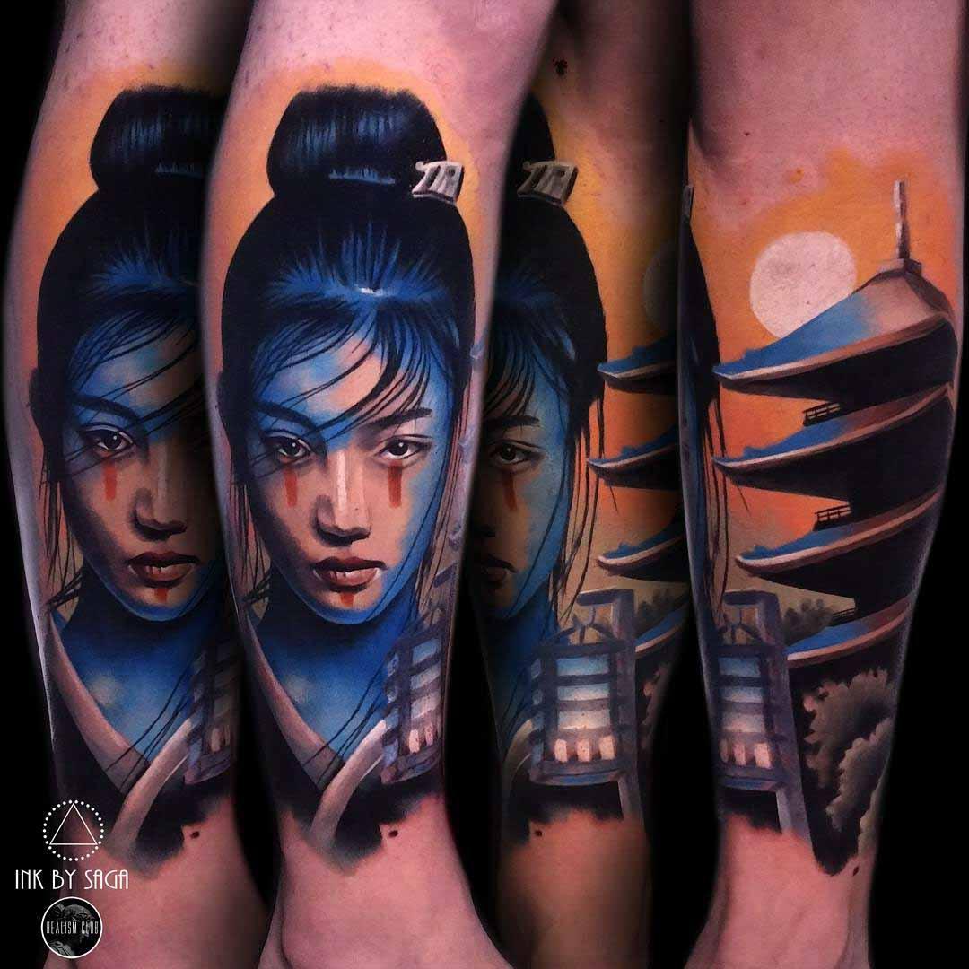 cool asian themed tattoo idea