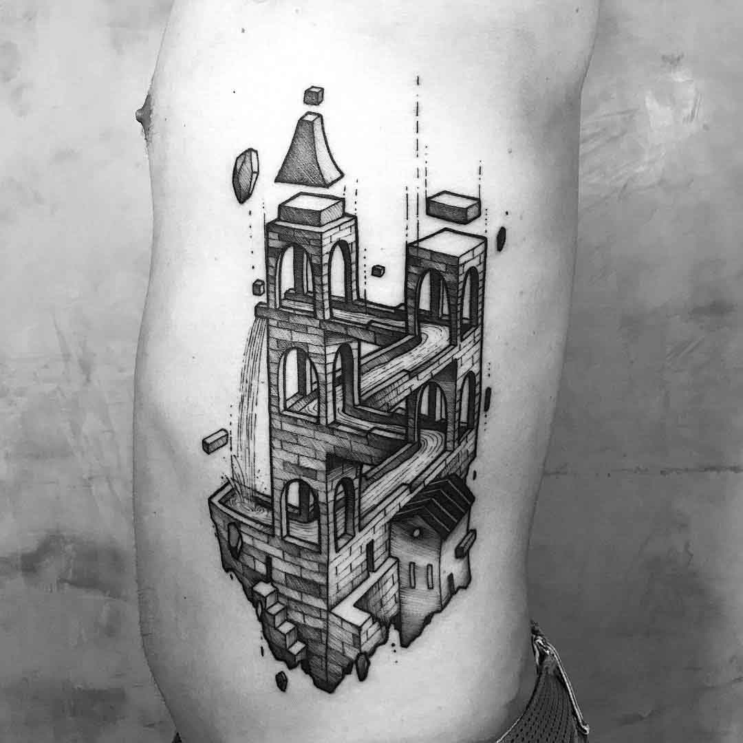 side tattoo castle imossible