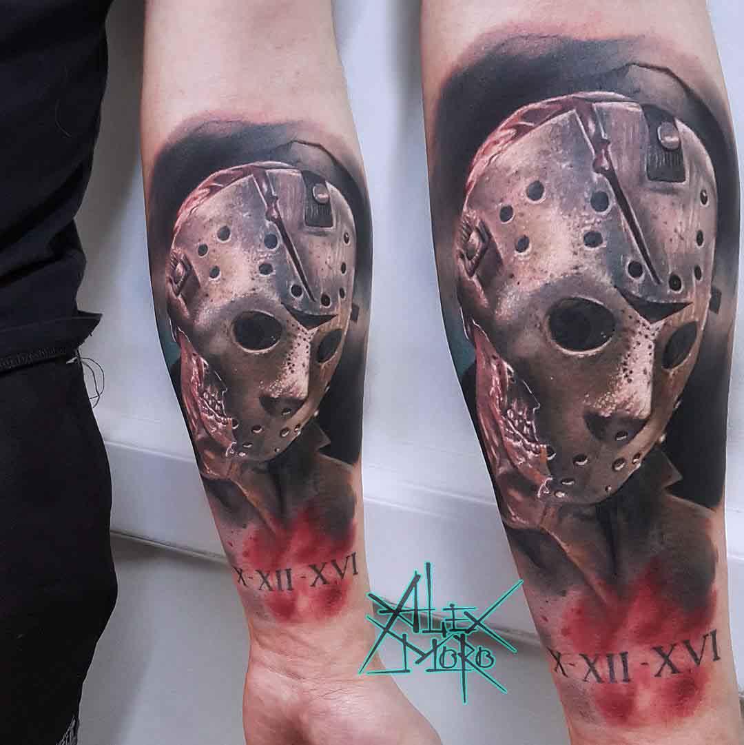 horror tattoo jason