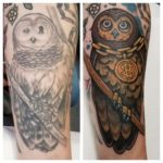 Arm Tattoo Owl Cover Up