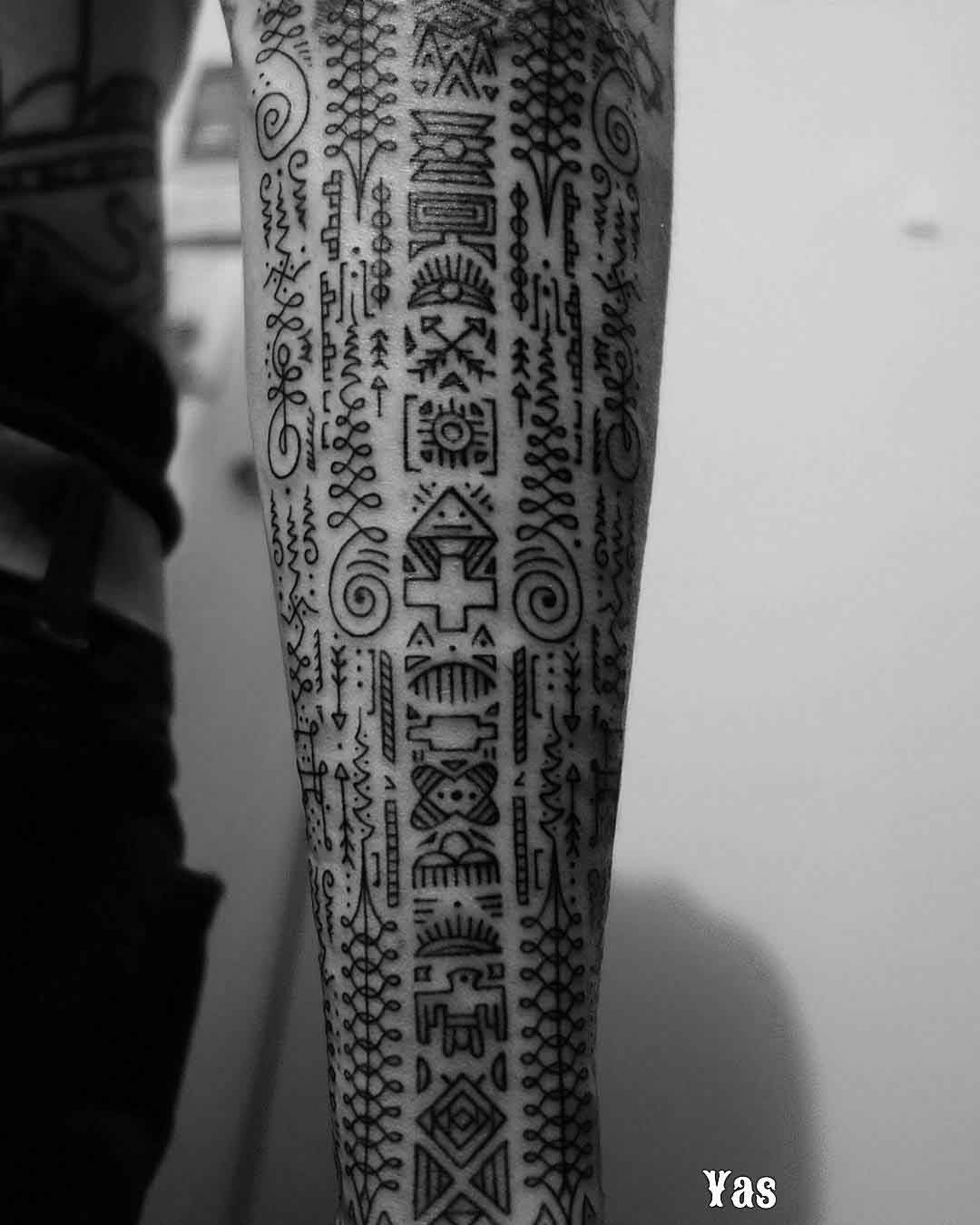 ethnic tattoo sleeve symbols