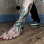 Octopus Ankle Tattoo