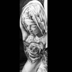 Virgin Mary Tattoo on Shoulder