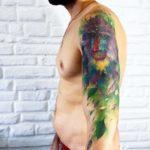 Baboon Tattoo on Shoulder