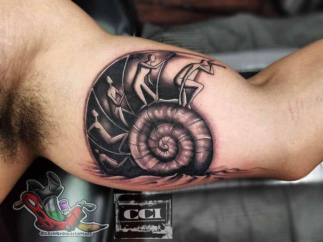 bicep tattoo shell