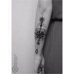 Arrow Mandala Tattoo on Arm