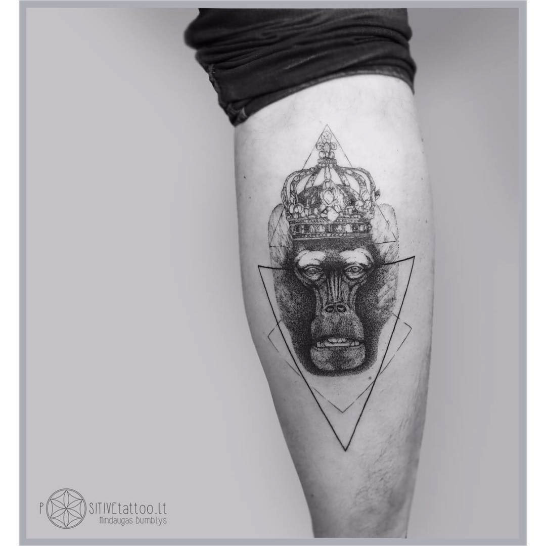 calf tattoo monkey king