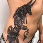 Anubis Tattoo on Stomach