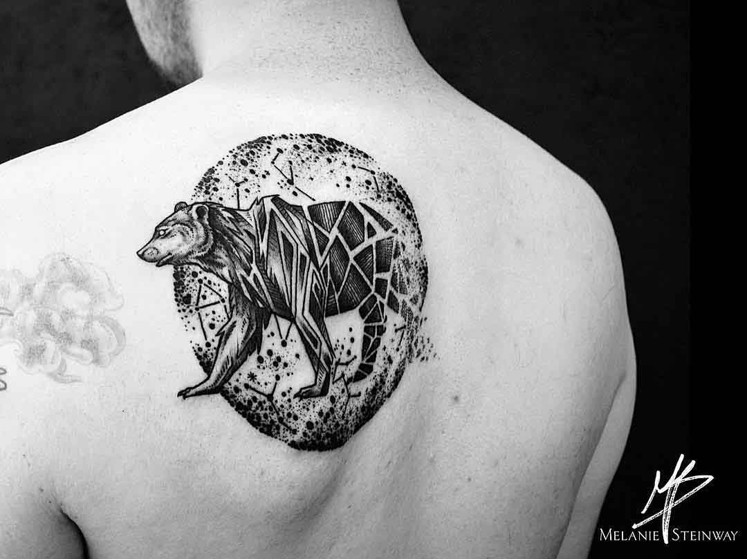 back tattoo bear