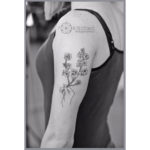 Blooming Branch Tattoo on Shoulder