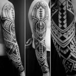 Polynesian Arm Tattoo