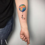 Small Tattoo Earth Balloon